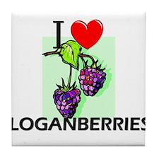 I Love Loganberries Tile Coaster