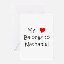 Cool Nathaniel Greeting Card