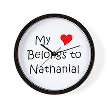 Funny Heart nathanial Wall Clock