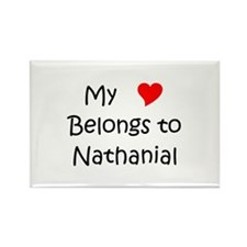 Funny Heart nathanial Rectangle Magnet