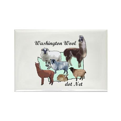 Washington Wool Rectangle Magnet (10 pack)