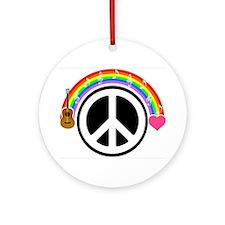 Peace/Rainbow/Music Ornament (Round)