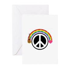 Peace/Rainbow/Music Greeting Cards (Pk of 10)