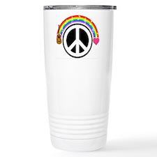 Peace/Rainbow/Music Travel Mug
