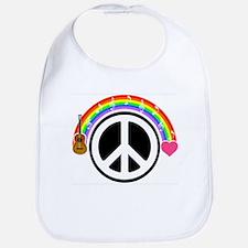 Peace/Rainbow/Music Bib