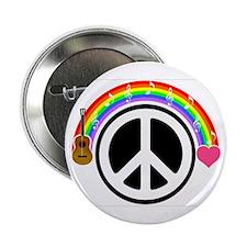 """Peace/Rainbow/Music 2.25"""" Button"""