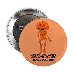 Scary Halloween Pumpkin 2.25