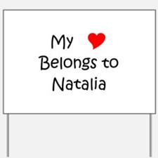 Funny Natalia Yard Sign