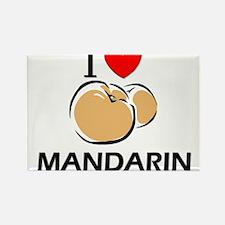 I Love Mandarin Rectangle Magnet