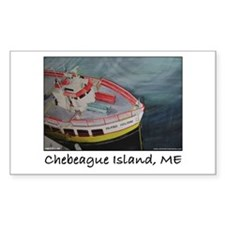 Chebeague Island Ferry Rectangle Decal