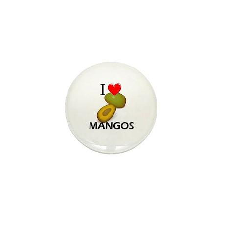 I Love Mangos Mini Button (10 pack)