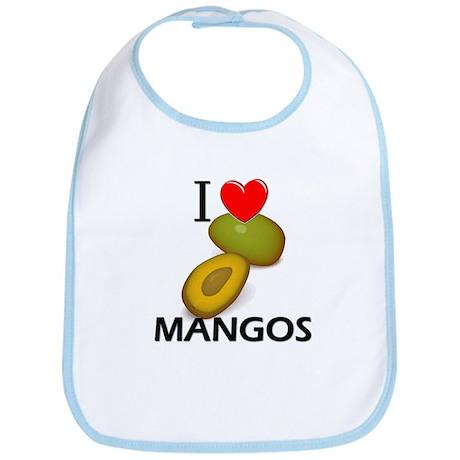 I Love Mangos Bib