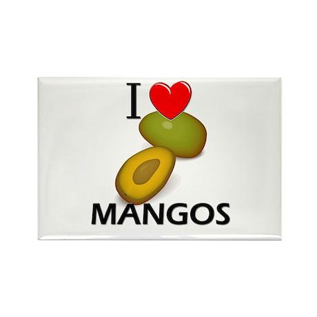 I Love Mangos Rectangle Magnet (10 pack)