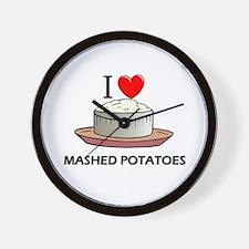 I Love Mashed Potatoes Wall Clock
