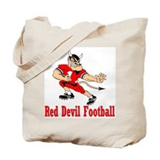 Red Devil Football Tote Bag