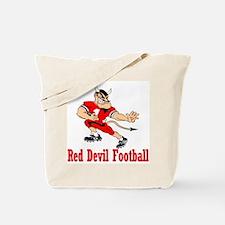 Red Devil Football Tote Bag