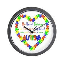 Autism Heart Wall Clock