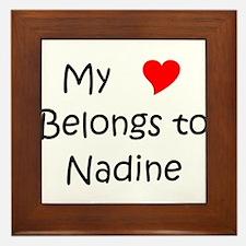 Unique Nadine Framed Tile