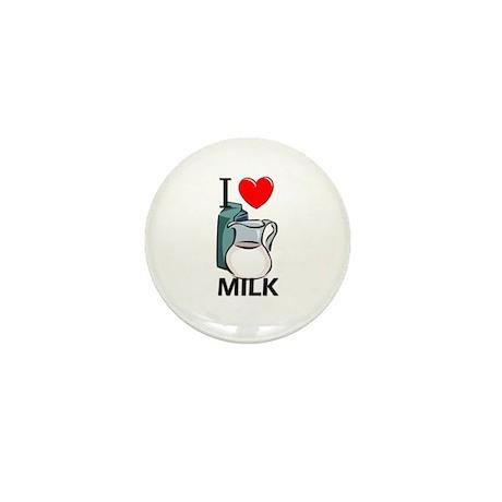I Love Milk Mini Button