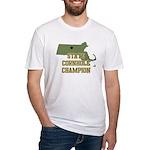 Massachusettes State Cornhole Fitted T-Shirt