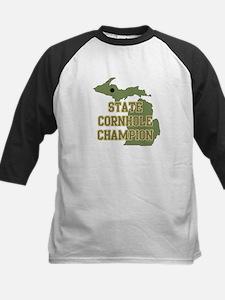 Michigan State Cornhole Champ Kids Baseball Jersey