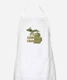 Michigan State Cornhole Champ BBQ Apron