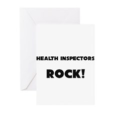 Health Inspectors ROCK Greeting Cards (Pk of 10)