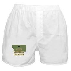 Montana State Cornhole Champi Boxer Shorts