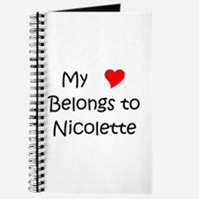 Funny Nicolette Journal