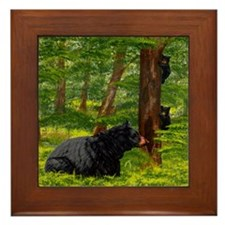 Guarding her Cubs;  Framed Tile