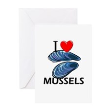I Love Mussels Greeting Card