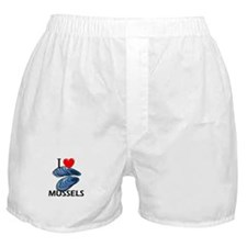I Love Mussels Boxer Shorts