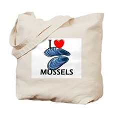 I Love Mussels Tote Bag