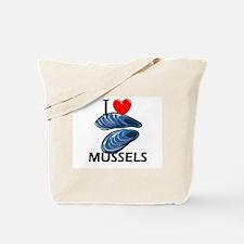 I Love Mussels Tote Bag