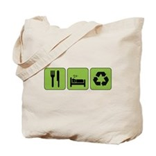 Eat, Sleep & Recycle Tote Bag