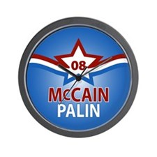 McCain Palin Star Wall Clock