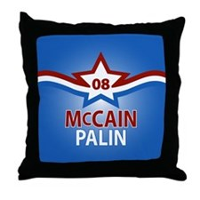 McCain Palin Star Throw Pillow