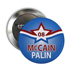 """McCain Palin Star 2.25"""" Button"""
