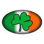 Irish Clover Oval Sticker (10 pk)