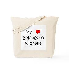 Cute My heart belongs nichelle Tote Bag
