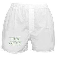 Green Buzz Words Boxer Shorts