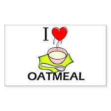 I Love Oatmeal Rectangle Decal