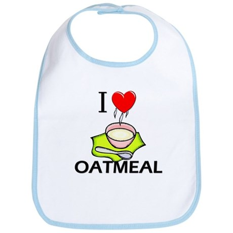 I Love Oatmeal Bib