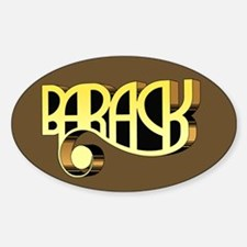 Brown Deco Barack Oval Bumper Decal