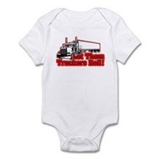 Let Them Truckers Roll! - Red Infant Bodysuit