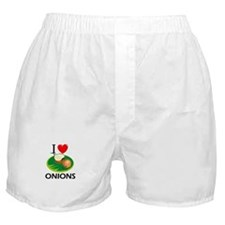 I Love Onions Boxer Shorts