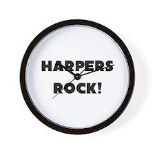 Harpers ROCK Wall Clock