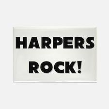 Harpers ROCK Rectangle Magnet