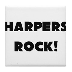 Harpers ROCK Tile Coaster
