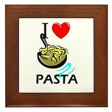 I Love Pasta Framed Tile